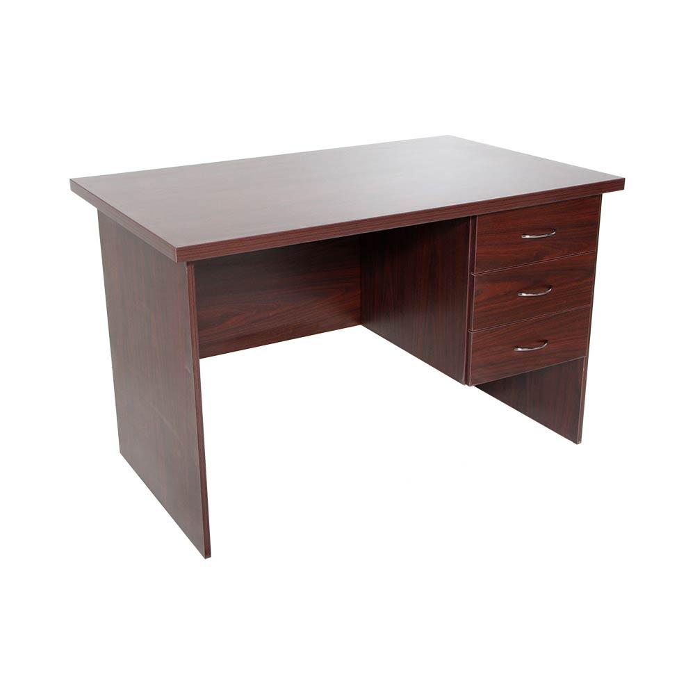 1200x750 Straight Office Desk Mahogany